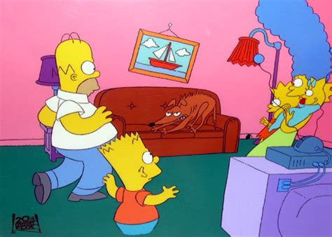 simpsons couch gag dave s cels simpsons couch gag setup
