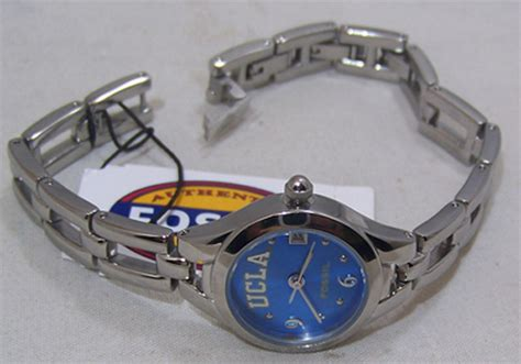 Fossil Matic Blue ucla bruins 3 bracelet with date lipr2674