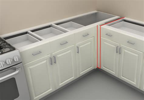 ikea corner kitchen cabinet how to use ikea panels to add support to your counter