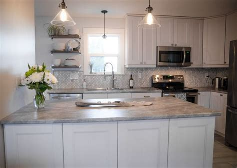 Choosing Countertops Laminate Diy Lemon Thistle Used Formica Laminate Countertop In 180fx Soapstone Sequoia Kitchen