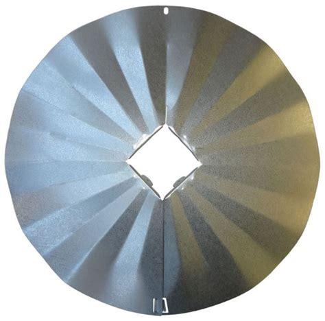 4x4 post wraparound disk squirrel baffle galvanized