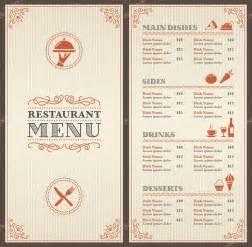 menu presentation template classic restaurant menu template stock vector 81375610