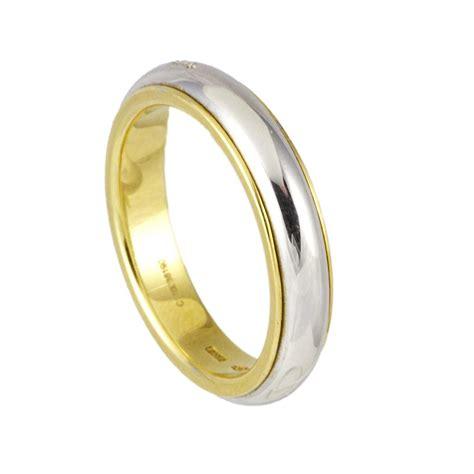 fede pomellato anello in oro bianco e giallo pomellato luxuryzone