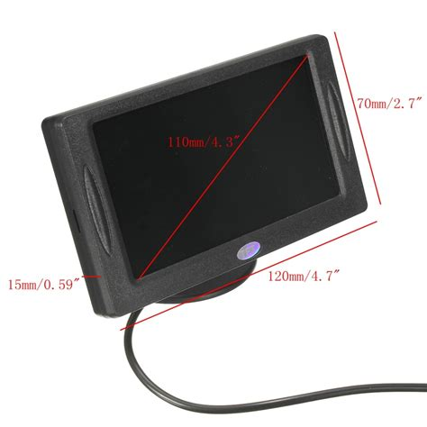 Monitor Lcd Mobil 4 3 4 3 quot tft lcd hd digital monitor warna layar untuk mobil