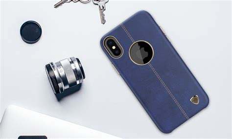Nillkin Englon Iphone X Ten Leather Back Cover Casing buy nillkin premium englon leather back cover for iphone x
