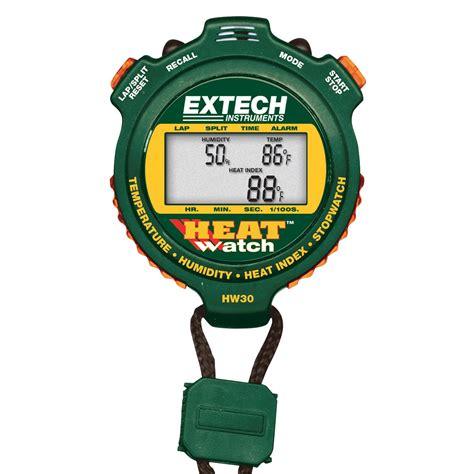 Extech Stopwatch Heat Index Hw30 heatwatch humidity temperature stopwatch u40189 extech