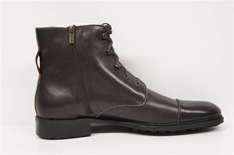rockadelic channing mens boots brown zipper bark smith