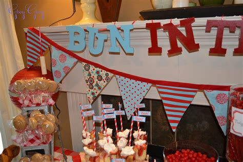 bun in the oven baby shower project nursery