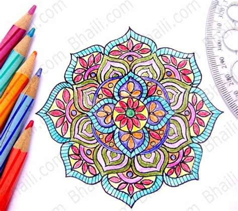 How to Draw a Mandala in 6 Easy Steps? ? Bhaili ? Your Friend