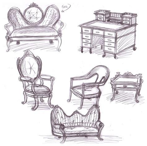 furniture sketches by omegasama on deviantart
