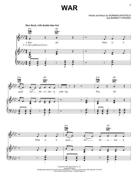 song ware war sheet direct