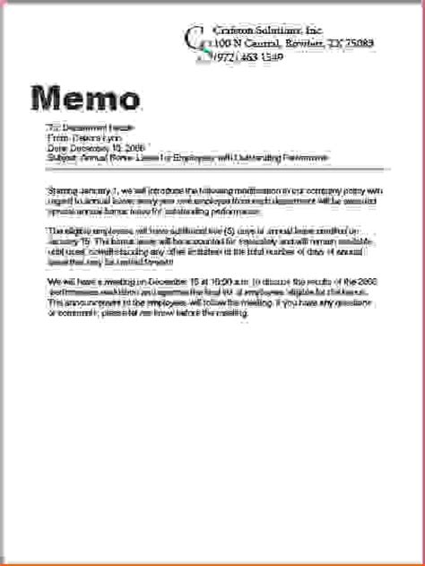 7  what is a memo   Memo Formats