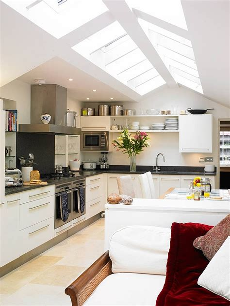 Kitchen With Vaulted Ceilings Ideas 25 Captivating Ideas For Kitchens With Skylights