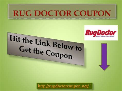 rug doctor coupon