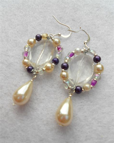 Handmade Earring Designs - how to make simple wire earrings for mothers day listiques