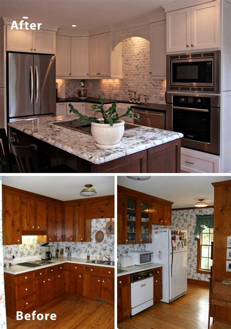 Renovating Kitchens Ideas by Before Amp After Small Kitchen Remodels Modern Kitchens