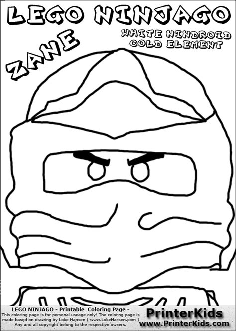 lego nindroid coloring page free lego ninjago ice dragon coloring pages