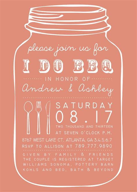 bridal shower barbeque invitations 17 best images about bbq couples wedding shower on