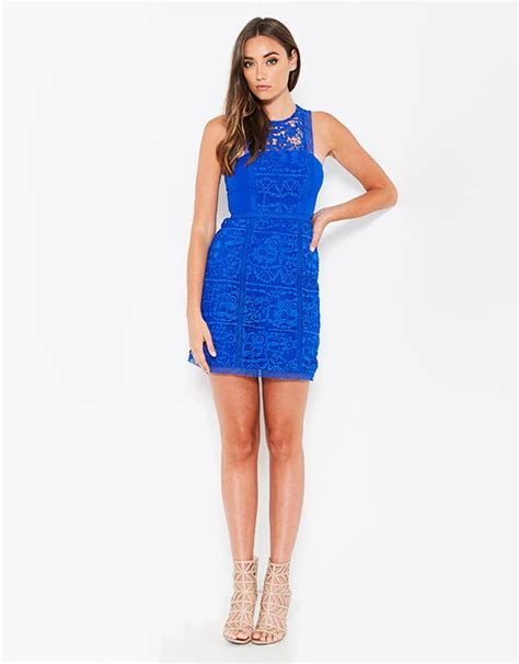 Dress Alila 1 lumier by bariano cobalt lace dress alila