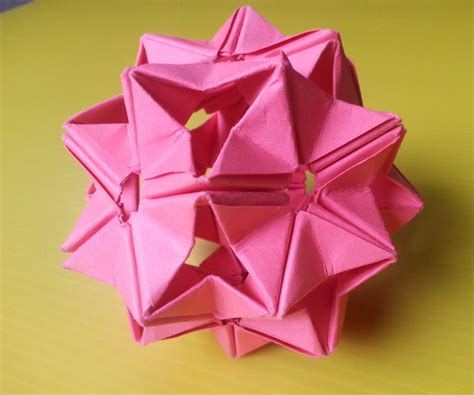 Origami Modules - modular origami unit based on the triangle box 2