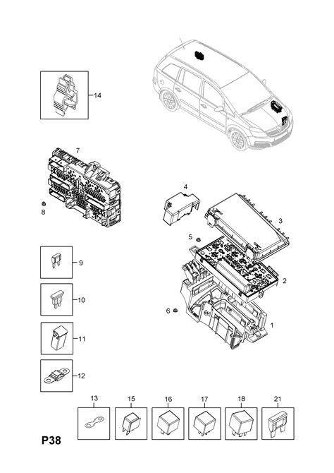 fuse box opel zafira b wiring diagram schemes