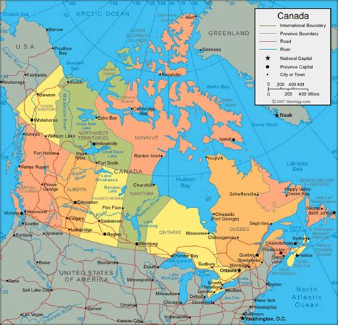 canada rivers and lakes map reisen