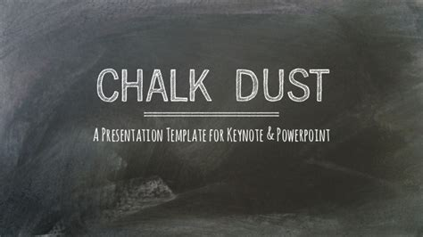 Chalk Dust Presentation Template Chalkboard Powerpoint Template