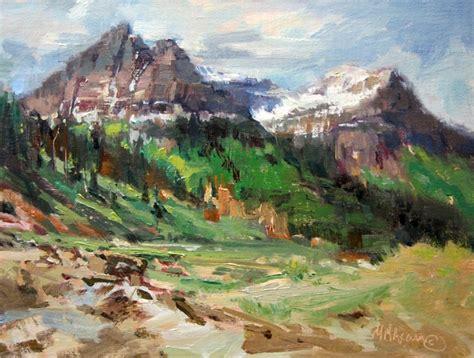 mary maxam paintings glacier park peaks mountain