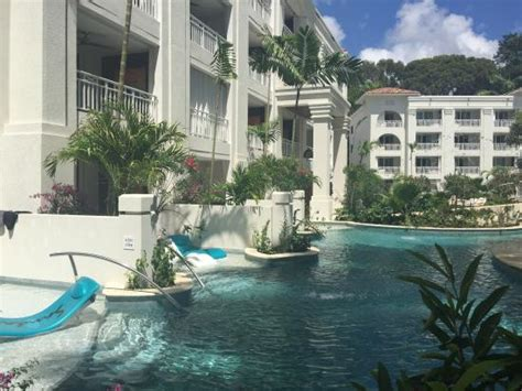 sandals resorts with swim up rooms view from looking back at building
