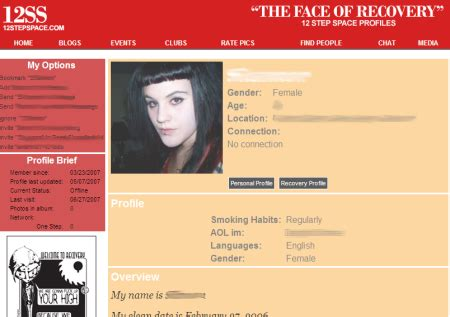 Myspace Launches Beta Fashion News Section by 12stepspace Is Myspace For Rehabilitation