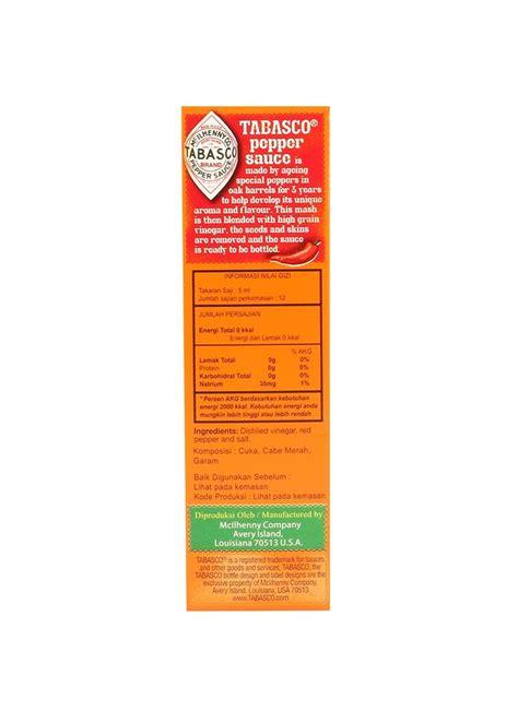 Tobasco Pepper Sauce Saus Saos Pedas 60ml tabasco pepper sauce btl 60ml klikindomaret