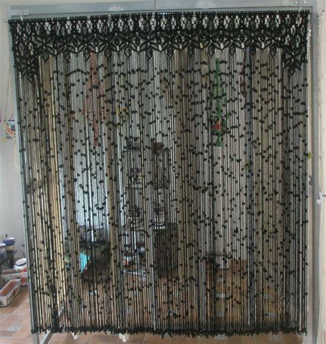 macrame cortinas cortina de macram 233 de color negro modelo reina needles