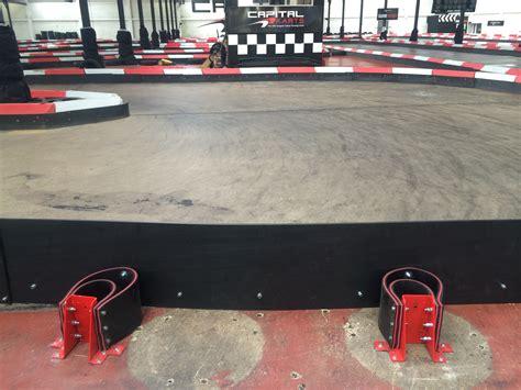 thames barrier go karting see our new spring loaded karting track barrier system
