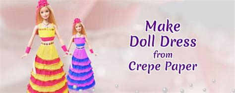 How To Make Doll Using Paper - easy craft how to make a crepe paper doll dress
