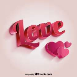 3d love lettering vector free download