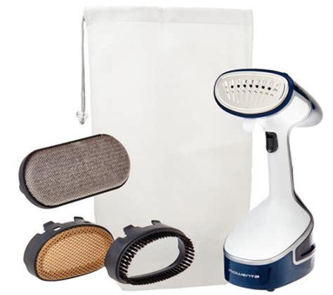 rowenta x cel steam 1500w handheld steamer with storage bag v33582 qvc