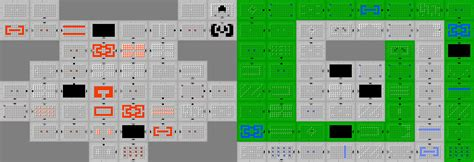 dungeon two map second quest the legend of zelda wiki walkthroughs zeldaclassic com