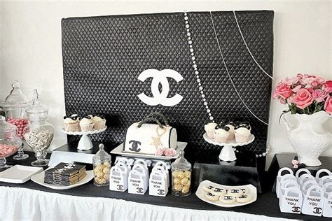 themes tumblr chanel chanel theme 21st birthday party pictures photos and