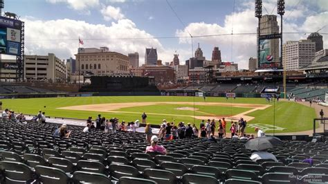 comerica park section 130 comerica park section 130 detroit tigers rateyourseats com