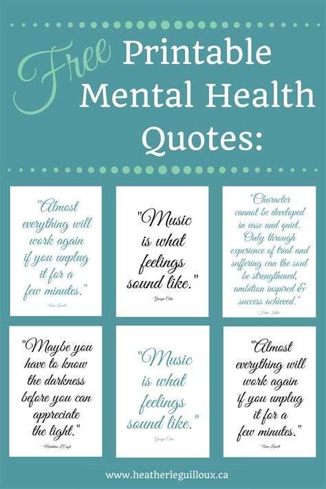 Printable Health Quotes | free printable mental health quotes hleguilloux based on