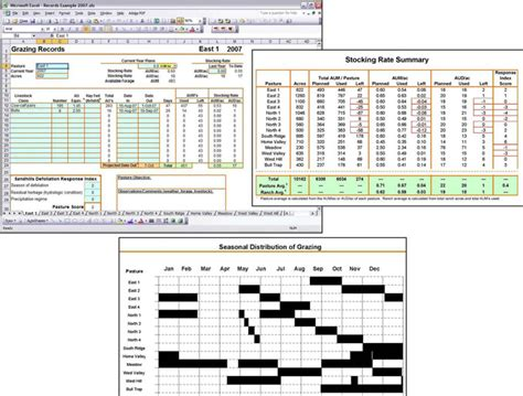 Using The Grazing Records Spreadsheet For Documentation And Planning Unl Beef Nebraska Cattle Management Excel Template