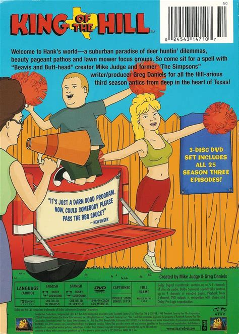 king of the hill the complete 3rd season 3 disc dvd