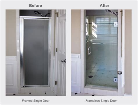 Single Shower Door Replacement For Walk In Shower Shower Glass Door Repair