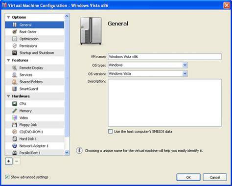 parallels management console editing machine configuration