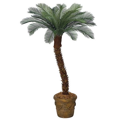 Outdoor Artificial Tree - 4 foot artificial outdoor cycas palm with 18 fronds