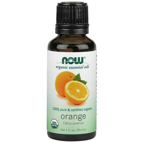 Orange Essential Oils Now Food coupons for orange organic essential 1 oz now foods
