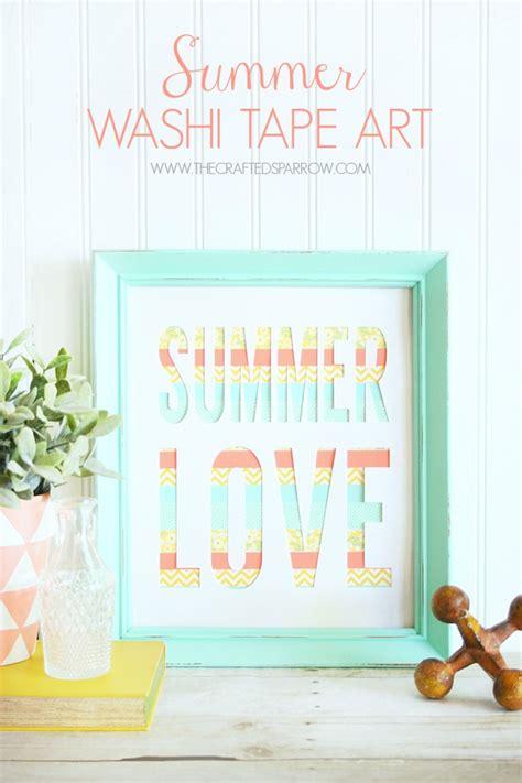 diy 3 easy summer home decor ideas youtube washi tape art