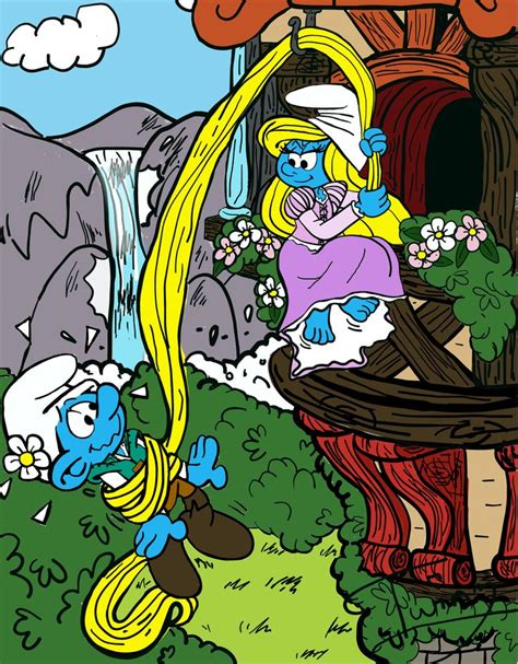 Smurfs 19 The Smurfer The smurfette and vanity smurf tangled by pussycat puppy on deviantart smurfette barefoot