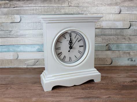 shabby chic mantle leonardo white shabby chic mantel clock ebay