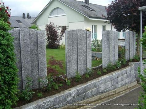 moderne stehlen sichtschutz mit granitstelen beste garten ideen